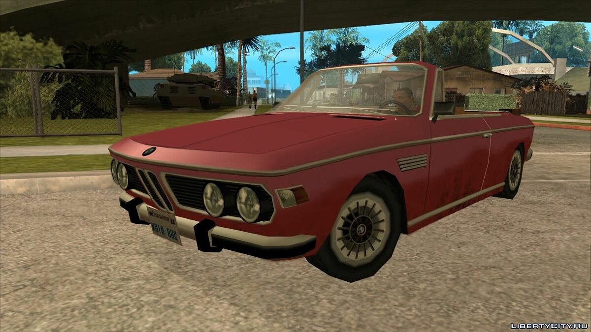 BMW E9 1971 Cabrio Low Poly для GTA San Andreas