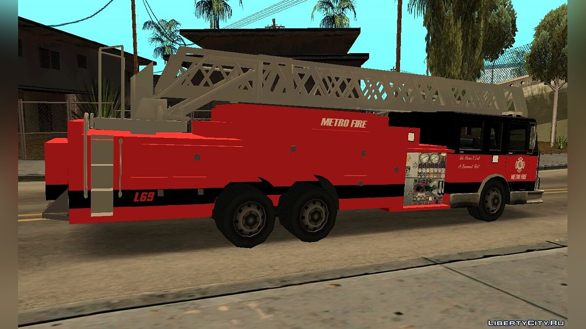 New Firetruck LA - LSFD Ladder 33 для GTA San Andreas - скриншот #2