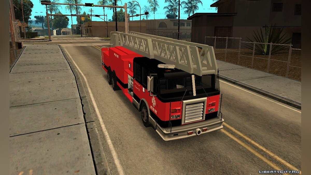 New Firetruck LA - LSFD Ladder 33 для GTA San Andreas - скриншот #3