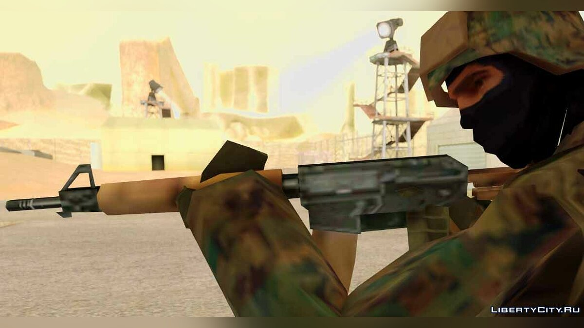 ��ружейный мод LQ Retexture Weapon Pack для GTA San Andreas