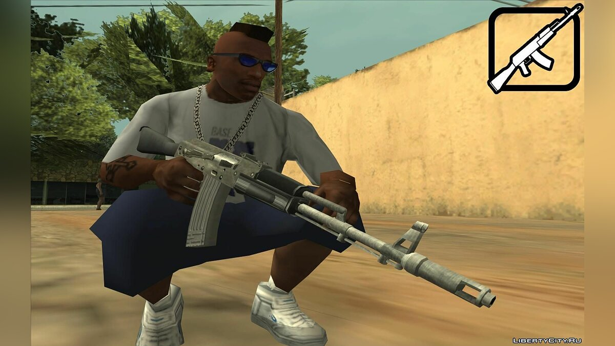 M4 and AK47 from Hitman: Contracts для GTA San Andreas - скриншот #5