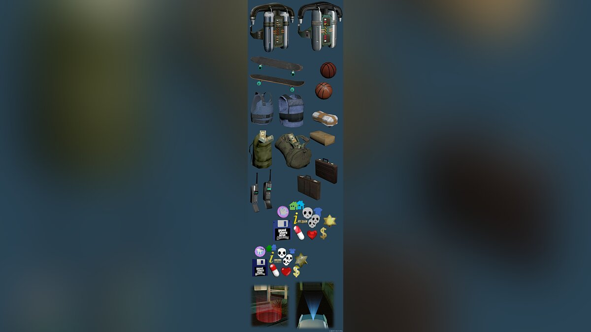 ��ружейный мод INSANITY Items для GTA San Andreas