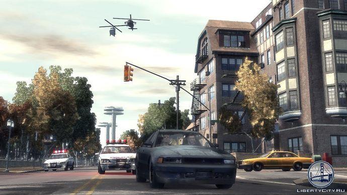 Уход от погони в GTA 4