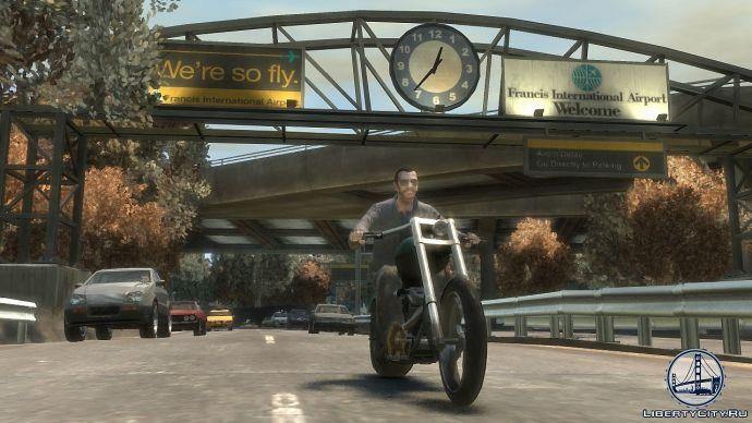 Нико на мотоцикле