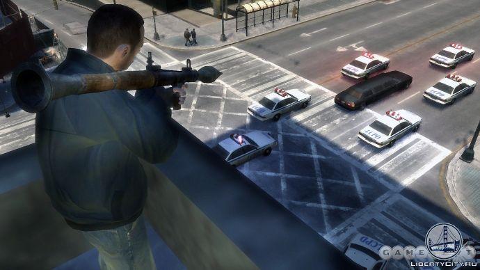 Обстрел лимузина в GTA 4