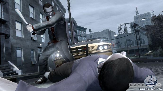 Удар битой в GTA 4