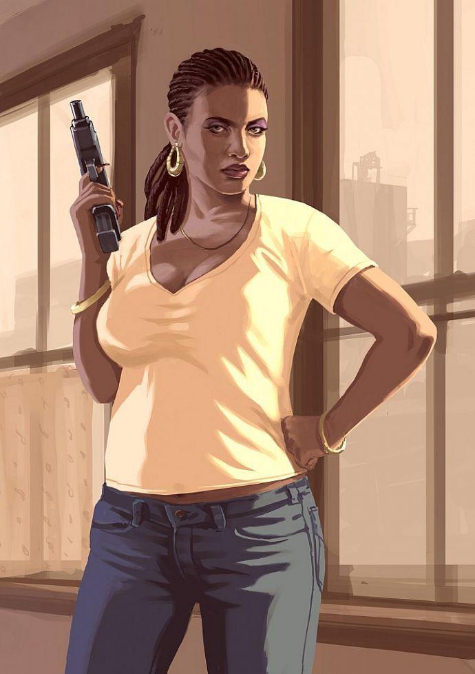Девушка из GTA 4