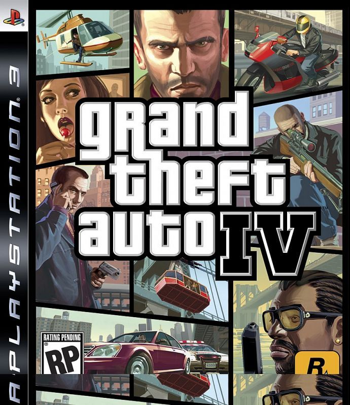 Обложка GTA 4 (PS3)