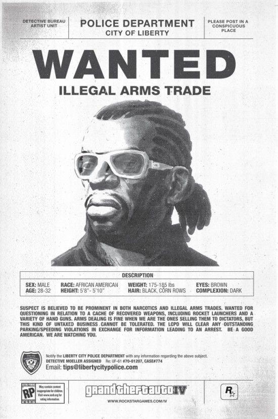 GTA 4 плакат WANTED