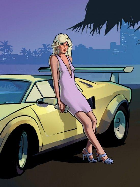 Девушка из GTA VCS