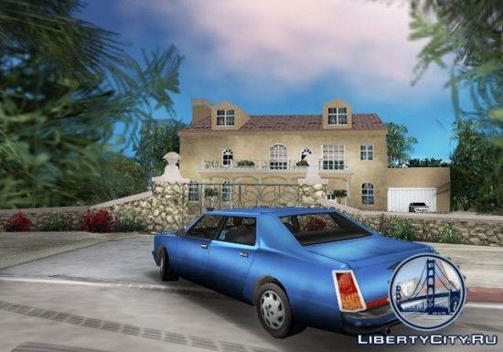 Голубой автомобиль