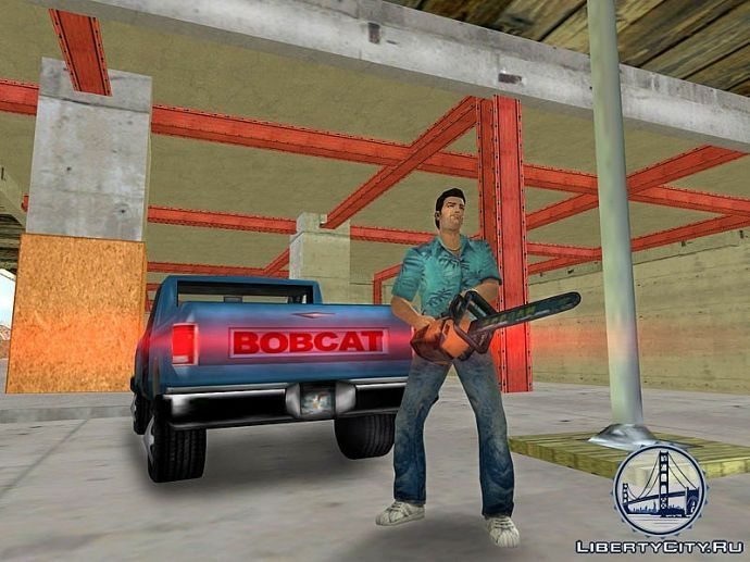 Томми, bobcat и бензопила