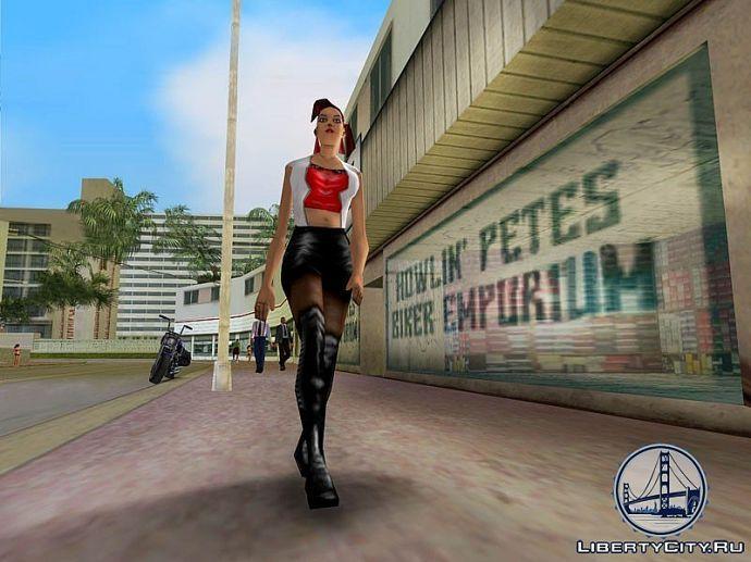Девушка из GTA Vice City
