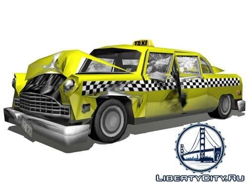 Разбитое такси (арт)