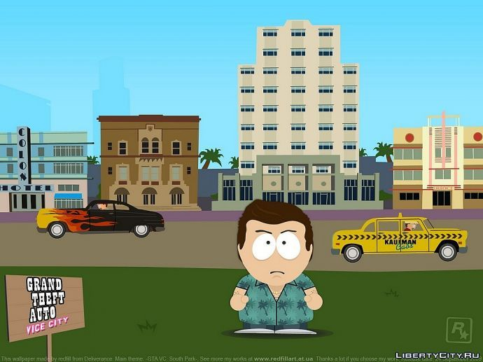 South Park + GTA Vice City