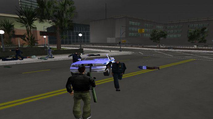 Полицейские без головы (просто баг)