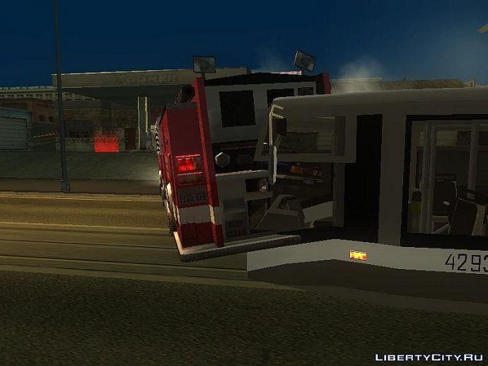 Пожарка не так припарковалась.