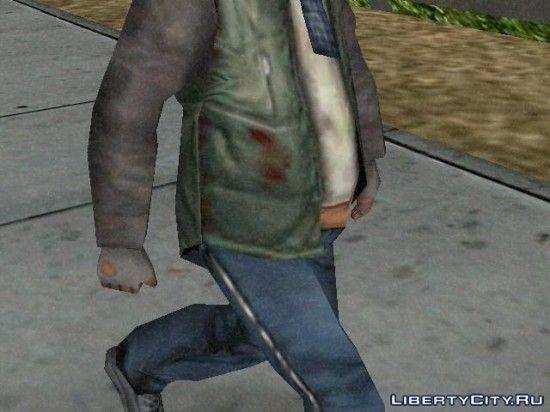Кровь у бомжа на куртке??