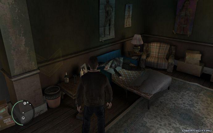 Мужик на кровати Нико