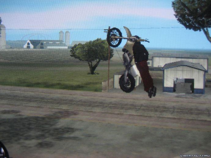 Головой об мотоцикл