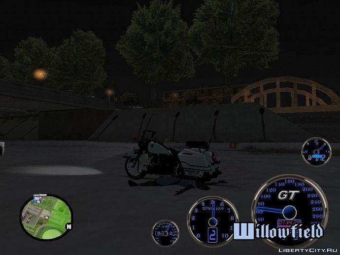 Под мотоциклом