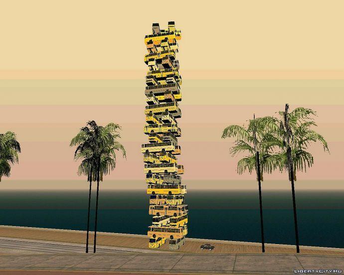 Пирамида из автобусов