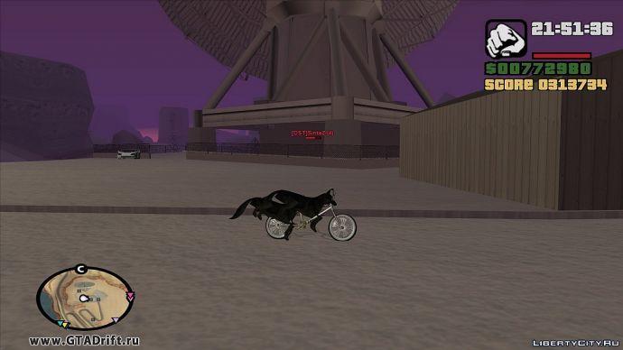 Двойная собака на BMX