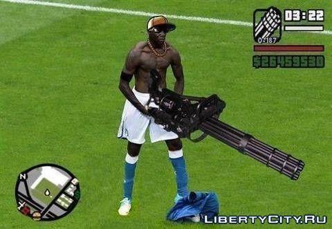 Жесткий футбол в GTA =D