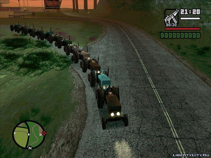 Паровоз из тракторов