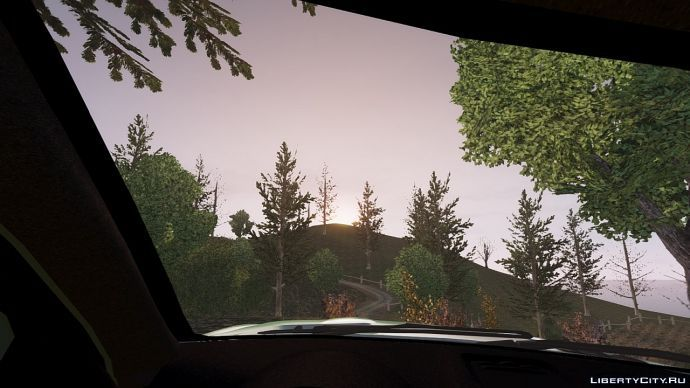 Из машины закат