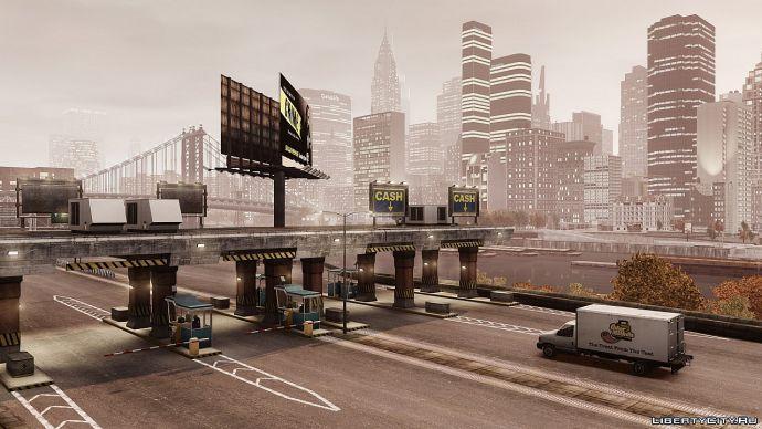 пропускной пункт на мосту