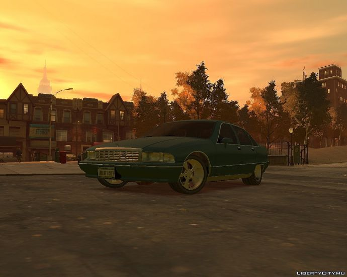 Chevy Caprice at sunset
