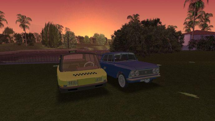 Закат и советские автомобили