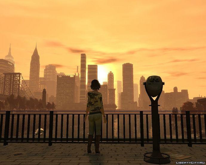 Girl looking at Liberty City