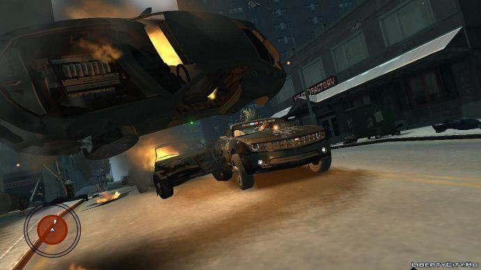 Под взорвавшейся машиной