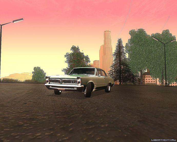 Pontiac GTO'65 at sunset