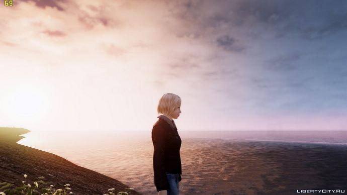 Кэти на берегу