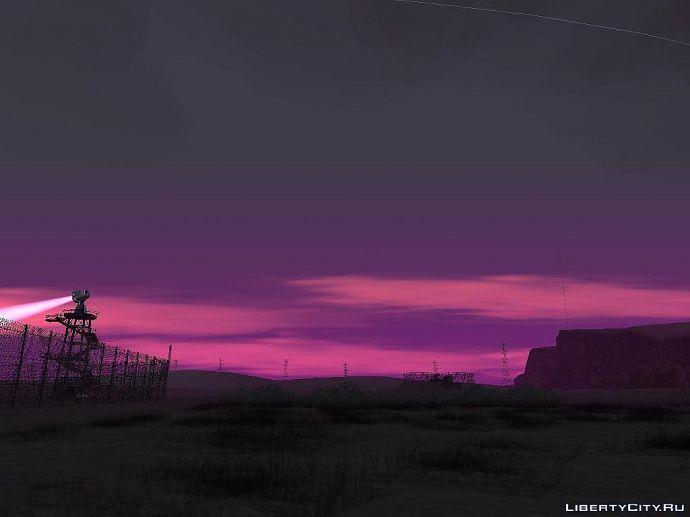 Вечерние небо в пустыне