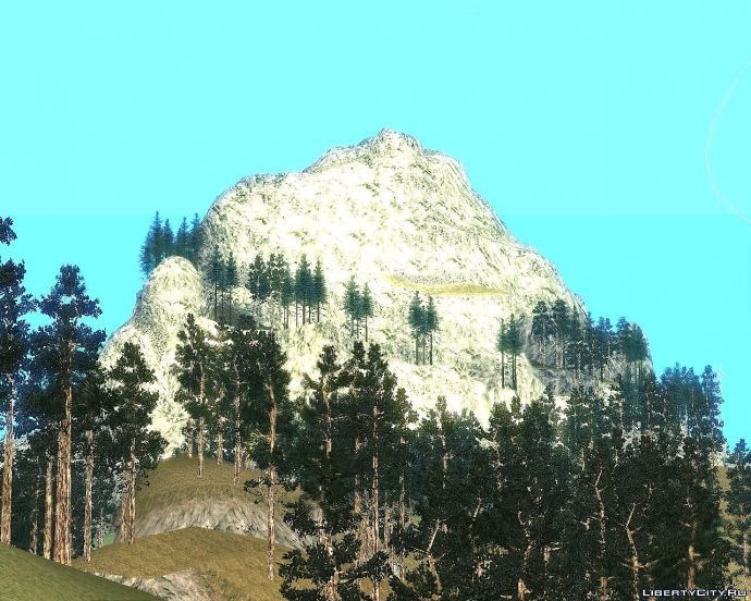 Вид горы Чилиад вдали (вид из вертолета)