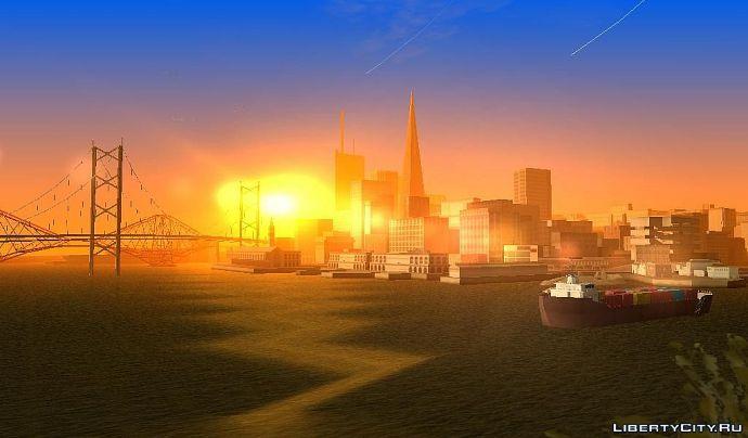 Закат в SF.