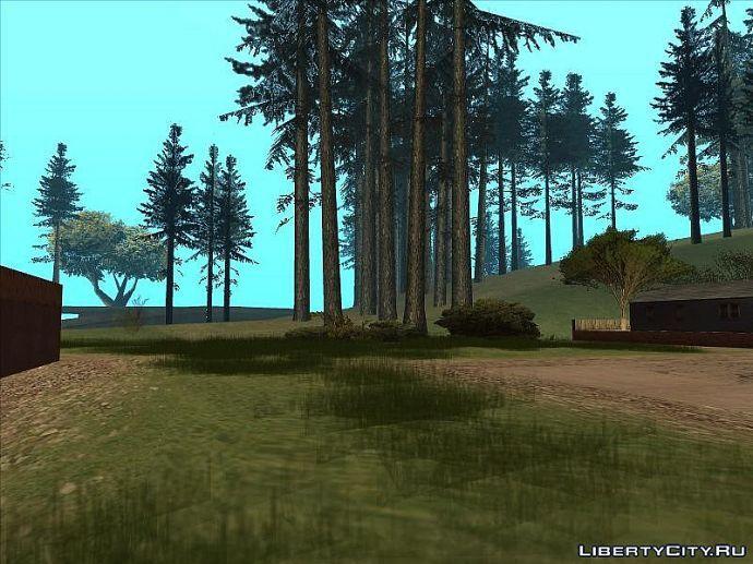Лес, природа, домики.