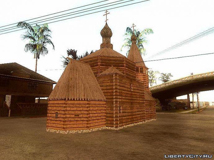 Церковь сзади