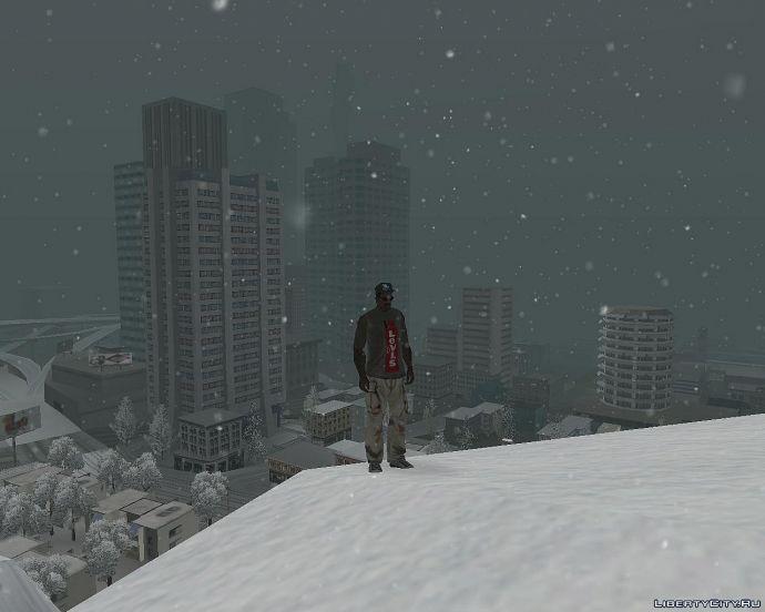 GTA Snow Andreas - вид города