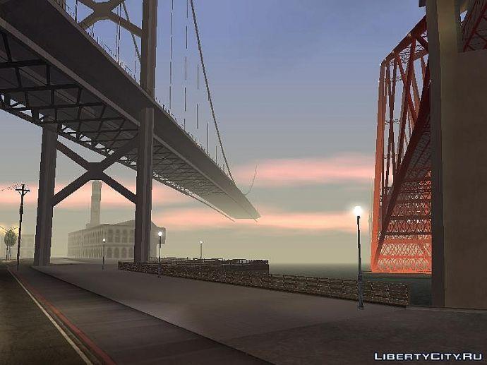 Мост уходит в закат