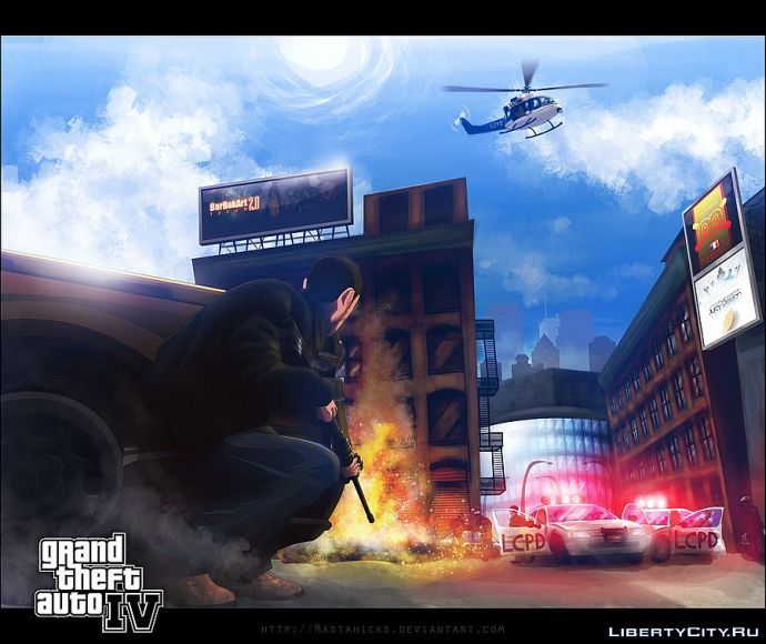 GTA IV - Urban Gunfight