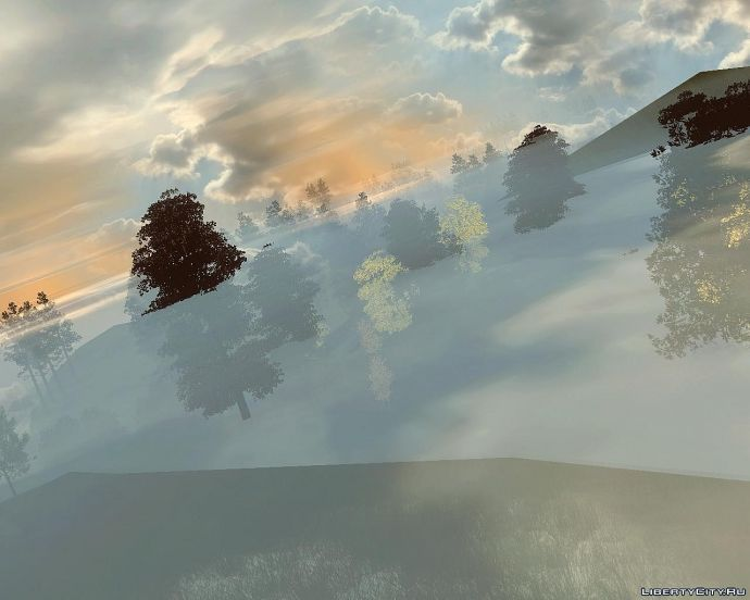 Закат в горах.