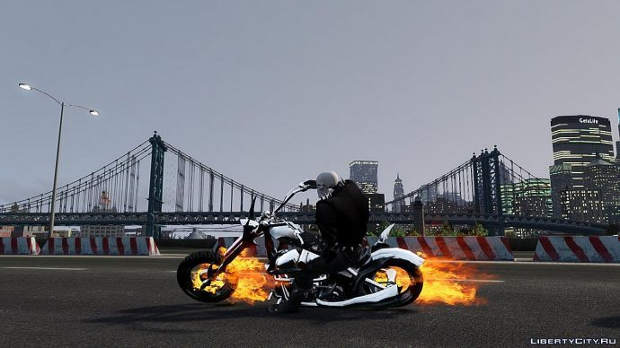 Ghost Rider on road