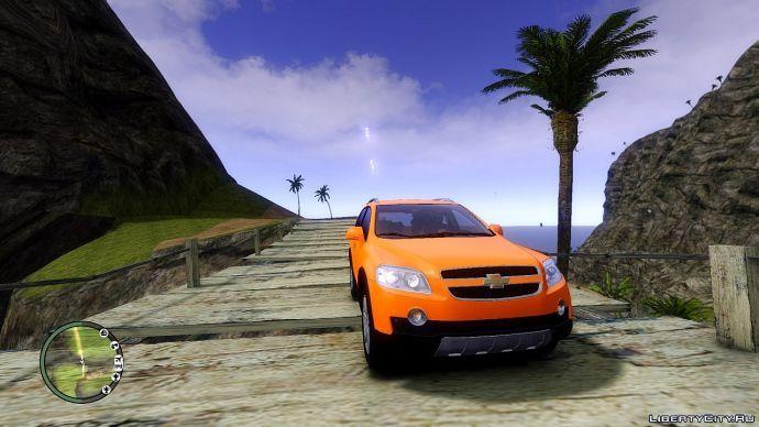 Chevrolet на деревянном мостике
