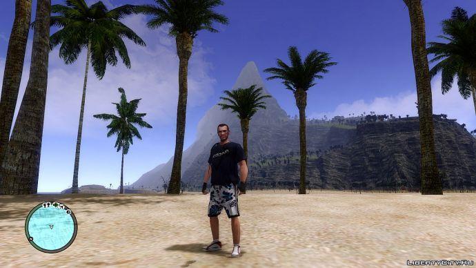 Вид на тропический остров...