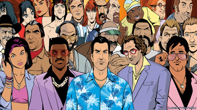 Grand Theft Auto: Vice City - All Characters Art